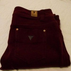GUESS Jeans Womens, Size 28, red/burgundy